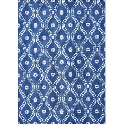 Astrid Navy Indoor/Outdoor Area Rug Rug Size: Rectangle 10 x 13