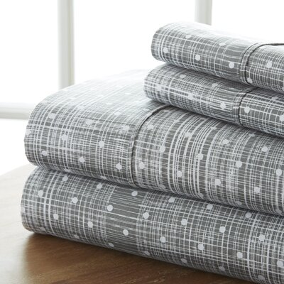 Niranjan Premium Printed Microfiber Sheet Set Size: Queen, Color: Gray