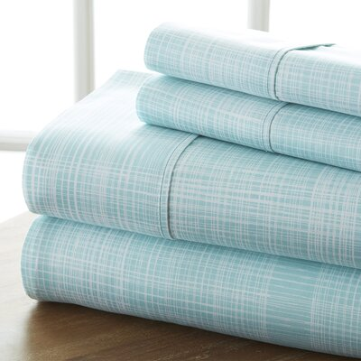Niranjan Premium Printed Microfiber Sheet Set Size: Queen, Color: Aqua