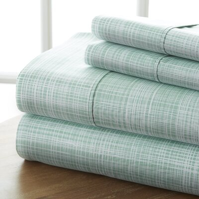 Niranjan Premium Printed Microfiber Sheet Set Size: Full, Color: Forest