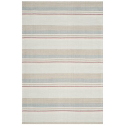 Caja Hand-Woven Gray/Brown/Blue Area Rug Rug Size: Rectangle 3 x 5