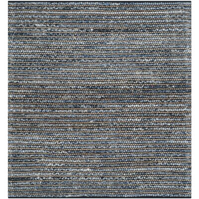 Abia Dark Blue Area Rug Rug Size: Square 6