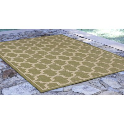 Aaliyah Geo Power Loom Green Indoor/Outdoor Area Rug Rug Size: Rectangle 33 x 411
