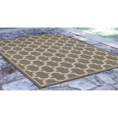 Aaliyah Geo Power Loom Gray Indoor/Outdoor Area Rug Rug Size: Rectangle 410 x 76