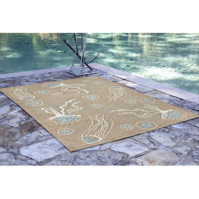 Bluegrass Jellies Hand-Tufted Beige Indoor/Outdoor Area Rug Rug Size: Runner 2' x 5'