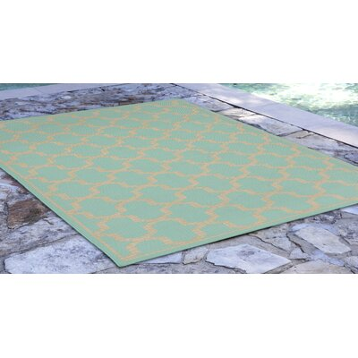 Aaliyah Geo Blue Indoor/Outdoor Area Rug Rug Size: Runner 111 x 76