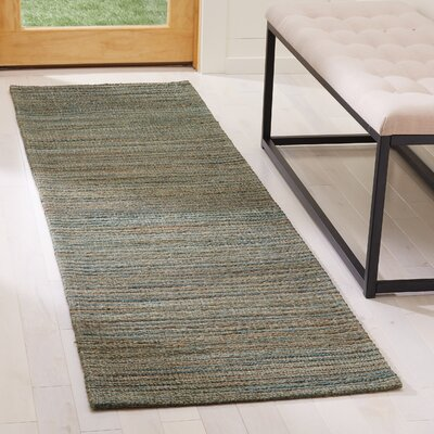 Abia Hand-Woven Sage Area Rug Rug Size: Runner 2 x 8