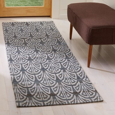 Abia Hand-Woven Slate Area Rug Rug Size: Runner 2' x 8'