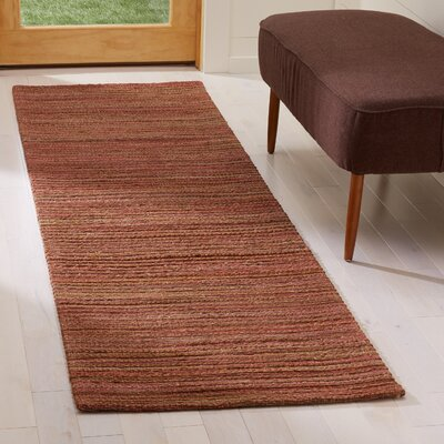 Abia Hand-Woven Rust Area Rug Rug Size: Runner 2 x 8