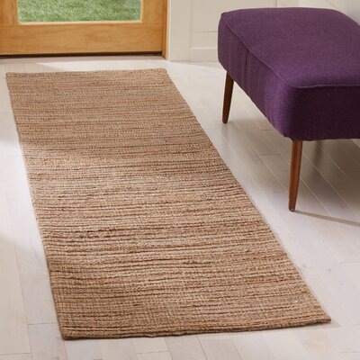 Abia Hand-Woven Brown Area Rug Rug Size: Runner 2 x 8