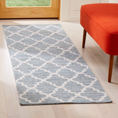 Eliana� Hand-Woven Rectangle Mint/Ivory Area Rug Rug Size: Runner 23 x 7