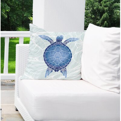 Palmdale Indoor/Outdoor Euro Pillow Color: Blue/ Green