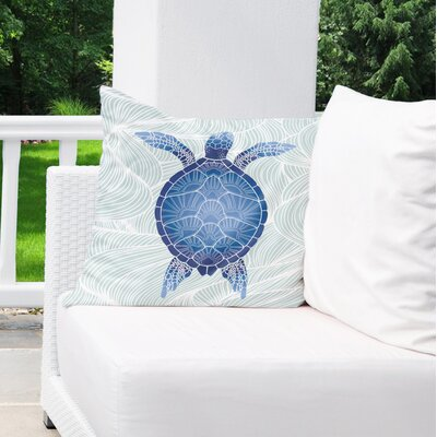 Chandeleur Indoor/Outdoor Throw Pillow Color: Blue/ Green, Size: 18 x 18