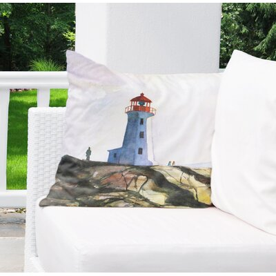 Rosette Outdoor Throw Pillow Size: 18 H x 18 W x 6 D
