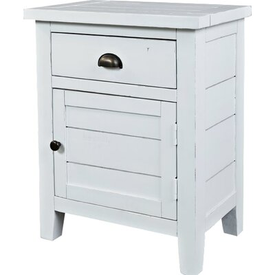 Leonora 1 Drawer Nightstand Color: Weathered White