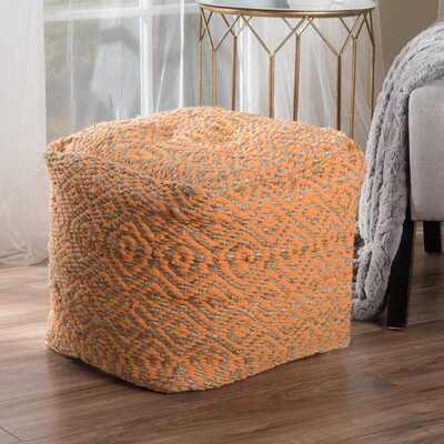 Sheldon Pouf Upholstery: Orange