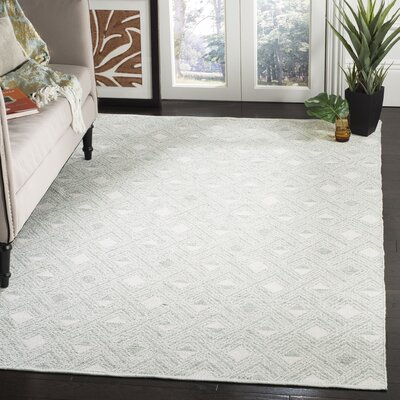 Dominica Hand-Woven Light Green/Ivory Area Rug Rug Size: Rectangle 3 x 5