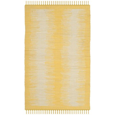 Cayman Hand-Woven Yellow/Gray Area Rug Rug Size: Rectangle 4 x 6