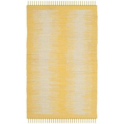 Cayman Hand-Woven Yellow/Gray Area Rug Rug Size: Rectangle 4 x 6