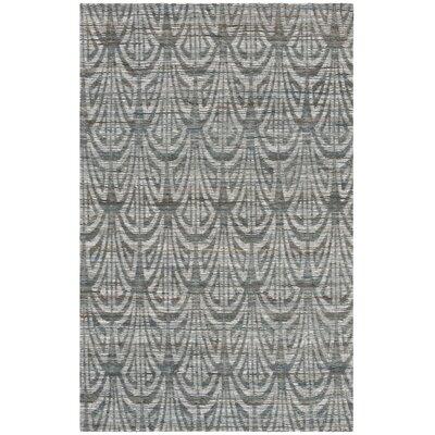 Abia Hand-Woven Slate Area Rug Rug Size: Rectangle 5 x 8
