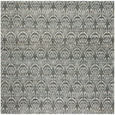 Abia Hand-Woven Slate Area Rug Rug Size: Square 6