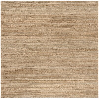 Abia Hand-Woven Brown Area Rug Rug Size: Square 6