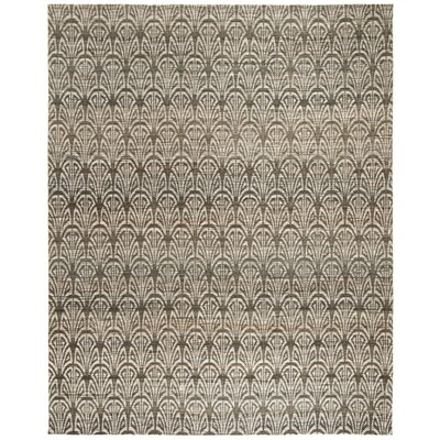 Abia Hand-Woven Light Beige Area Rug Rug Size: Rectangle 6 x 9