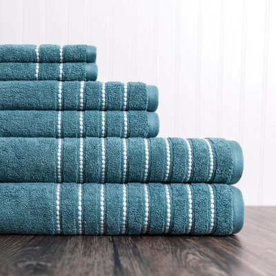 6 Piece Towel Set Color: Bristol Blue