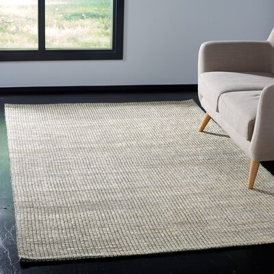 Burner Hand-Woven Ivory Area Rug Rug Size: Rectangle 6 x 9