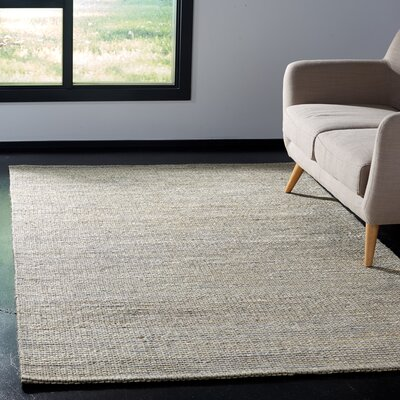 Burner Hand-Woven Light Gray Area Rug Rug Size: Rectangle 4 x 6
