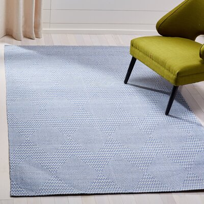 Burner Hand-Woven Dark Blue/Ivory Area Rug Rug Size: Rectangle 8 x 10