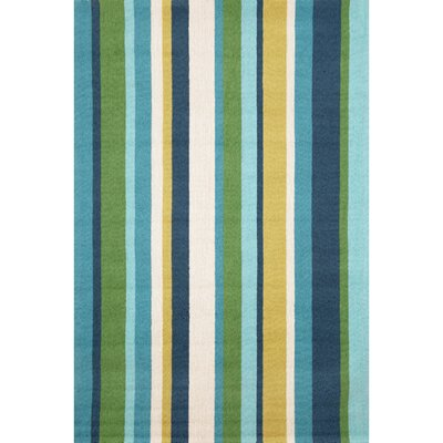 Bockman Seaside Vertical Stripe Indoor/Outdoor Area Rug Rug Size: 5 x 76
