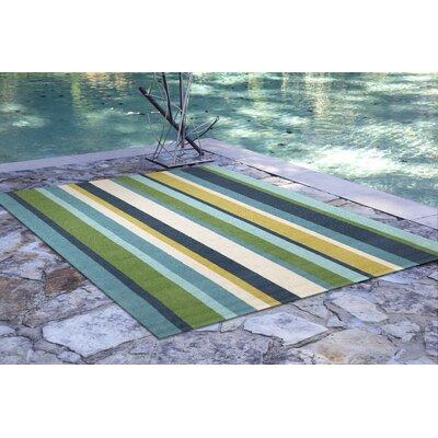 Bockman Seaside Vertical Stripe Indoor/Outdoor Area Rug Rug Size: 76 x 96