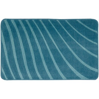 Leonor�Dark Blue Area Rug Rug Size: Rectangle 18 x 29