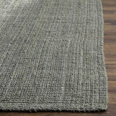 Calidia Hand-Loomed Gray Area Rug Rug Size: Rectangle 5 x 8