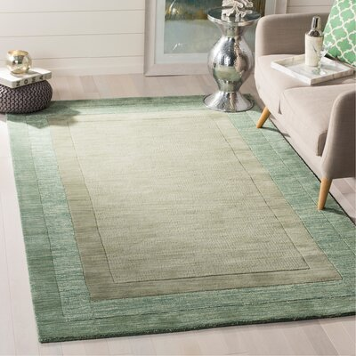 Frederica Green/Beige Area Rug Rug Size: Rectangle 5 x 8