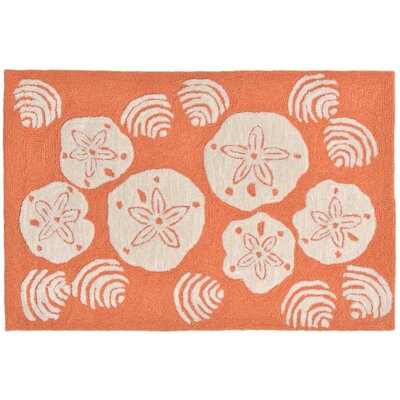 Cobden Hand-Tufted Orange Indoor/Outdoor Area Rug Rug Size: Rectangle 2' x 5'