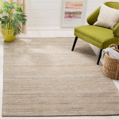 Aderyn Hand-woven Gray/Sand Area Rug Rug Size: Rectangle 5 x 8
