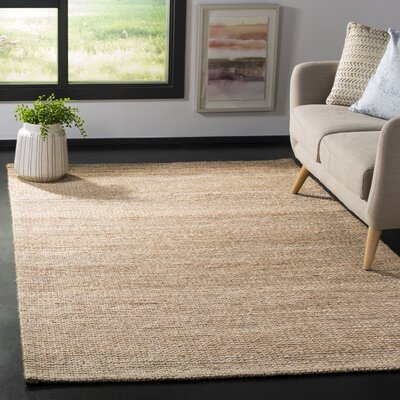 Burner Hand-Woven Natural/Ivory Area Rug Rug Size: Rectangle 5 x 8