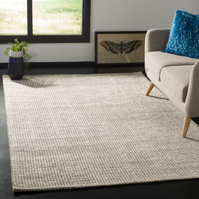 Burner Hand-Woven Ivory Area Rug Rug Size: Rectangle 5 x 8