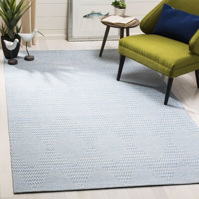 Burner Hand-Woven Light Blue/Ivory Area Rug Rug Size: Rectangle 5 x 8