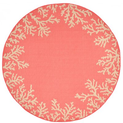 Claycomb Hand-Tufted Orange Indoor/Outdoor Area Rug Rug Size: Round 710