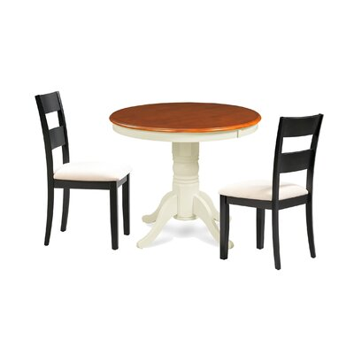 Cayton 3 Piece Breakfast Nook Dining Set Color: Black