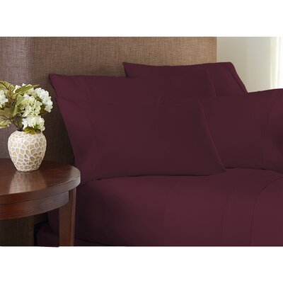 Valmir Hotel 500 Thread Count Sheet Set Size: Queen, Color: Aubergine