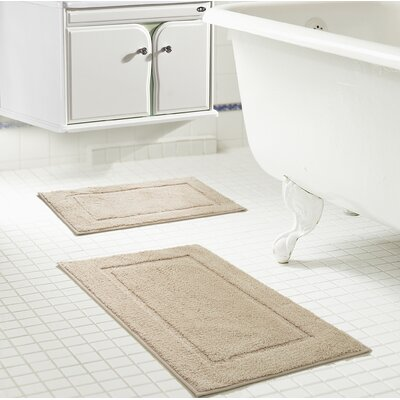 Raelene Bath Rug Set Color: Beige