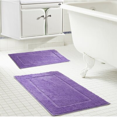 Raelene Bath Rug Set Color: Lilac
