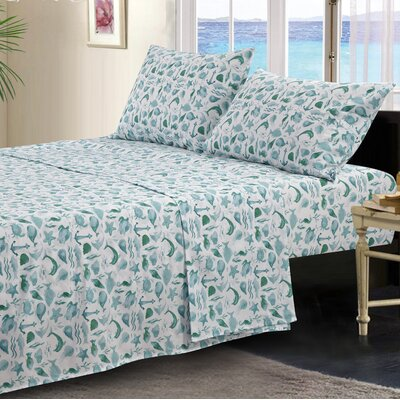 Broder Ocean Microfiber Sheet Set Size: King