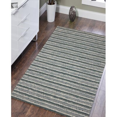 Brookes Hand-Tufted Steel Blue Area Rug Rug Size: Rectangle 5 x 8