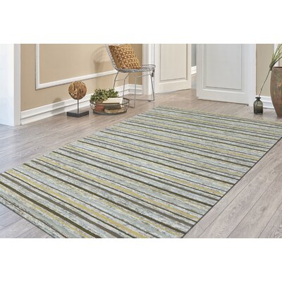 Brookes Hand-Tufted Gold Area Rug Rug Size: Rectangle 76 x 96