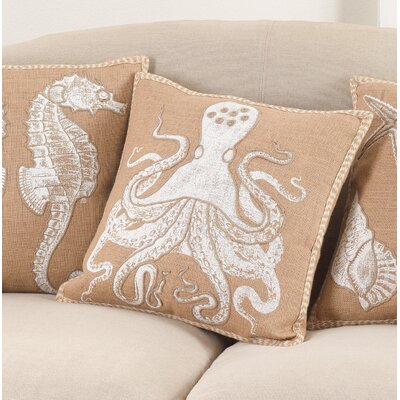 Aloisia Friendly Octopus Down Filled Throw Pillow